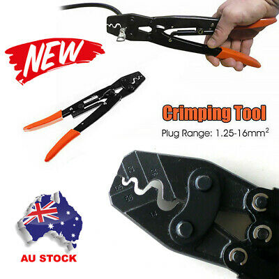 AU17.49 • Buy 1.25 - 16mm² Cable Crimper Anderson Plug Lug Battery Non Inslated Crimping Tool