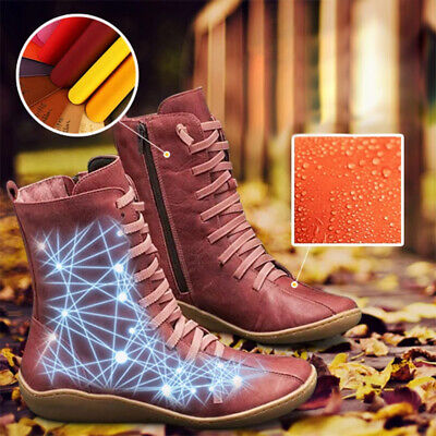 Arch Support Boots Women's Shoes Autumn Multi Colors Casual Hot-flat-heel-boots • 21.98£