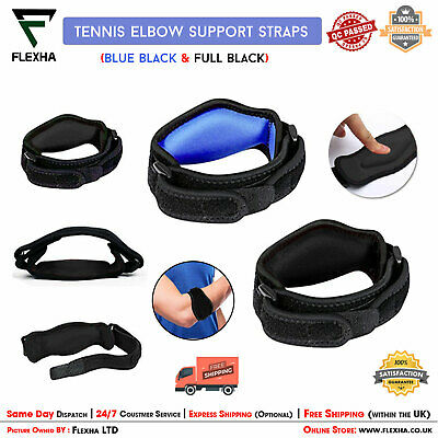 Tennis Elbow Support Strap Brace Band For Gym Sport Golfers Pain Epicondylitis ✓ • 3.85£