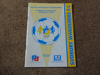 Sudbury Wanderers V Tow Law Town 97/98 FA Vase Quater Final Programme. • 0.99£