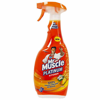 Mr Muscle Platinum Citrus Kitchen Spray Tough Grease Removal - No Harsh Smell UK • 6.55£