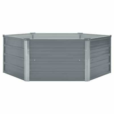 Raised Garden 129x129x46cm Galvanised Bed Steel Grey Plant Flower Pot~ UK • 28.69£