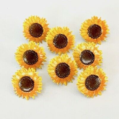 $2.25 • Buy Sunflower Brads ** 8 Pcs ** Eyelet Outlet