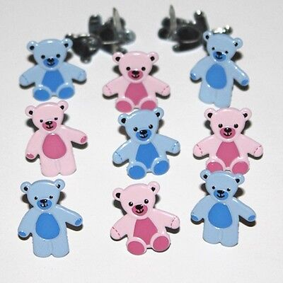 $2.25 • Buy Pastel  Teddy  Bear   Brads ** Eyelet Outlet * Pink & Blue * 2 Designs