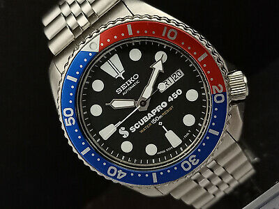 $ CDN93.59 • Buy Seiko Diver 6309-729a Stunning Scubapro Face Mod Automatic Mens Watch 660739