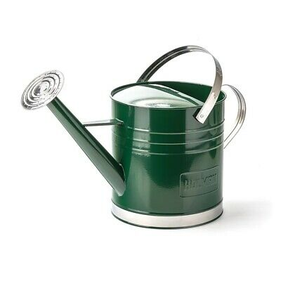 AU55.94 • Buy Green Watering Can Galvanised Rose With Two Handles Durable Outdoor Garden 9L