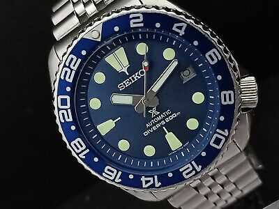 $ CDN100.18 • Buy Seiko Diver 7002-7001 Blue Face Prospex Automatic Mens Watch 2d2293