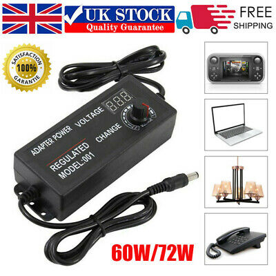 3V-24V Adjustable AC/DC Electrical Power Supply Adapter Charger Variable Voltage • 9.79£