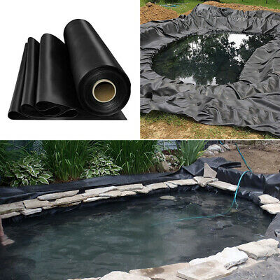 ALL SIZES 200gsm Pond Liner Garden Fish Pool Liners Stream Fountain Water Garden • 23.95£