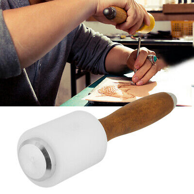 Durable Leather Nylon Hammer Wood Handle Leather Craft Carving Mallet Punch New • 6.39£