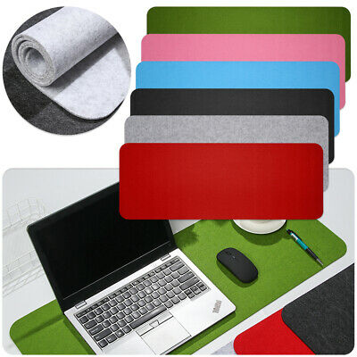 Modern Large Wool Felt Computer Desk Mat Table Keyboard Mouse Pad Laptop Cushion • 5.15£