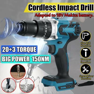 3-in-1 For Makita DHP483Z 18v Cordless Brushless Impact Drill Driver Body 13mm • 42.29£