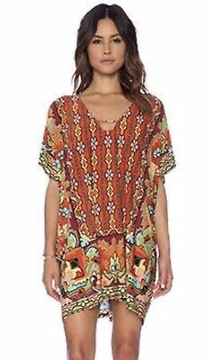 AU40 • Buy Brand New TIGERLILY Playa Mu Mu Floral Loose Kaftan Top Dress Size Aus 8-10