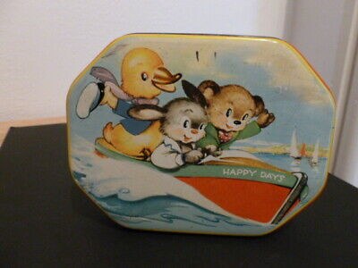Vintage Collectable Daintee Confections Blackpool Sweet Tin 'HappyDays' 1950's • 10£
