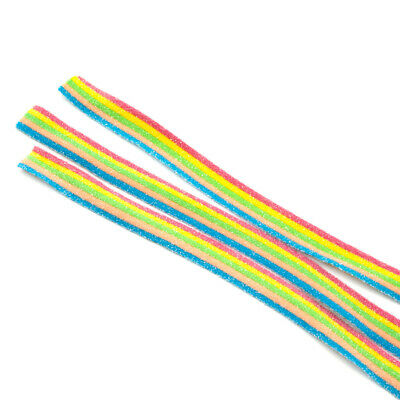 Rainbow Strips Fizzy Sour Belts Retro Candy Sweets 1.3KG Party Tub • 10.99£