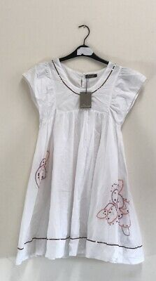 £35 • Buy Jean Bourget Girl White Dress Size 16 Years {R113}