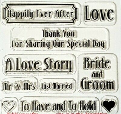 £2.99 • Buy TRIMCRAFT SAVE THE DATE CLEAR STAMP - Wedding Invitations - 10 Stamps