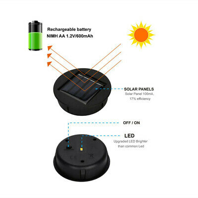 $12.34 • Buy Solar Lights Replacement Top Solar Lantern Solar Panels Rechargeable Power Box
