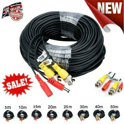 BNC DC Power Lead CCTV Security Camera DVR Video Camera Extension Cable 5M - 50M • 4.40£
