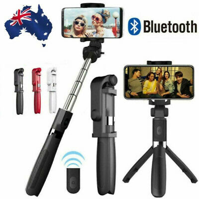 AU16.71 • Buy Wireless Phone Tripod Selfie Stick Bluetooth Control Extendable For IOS Android