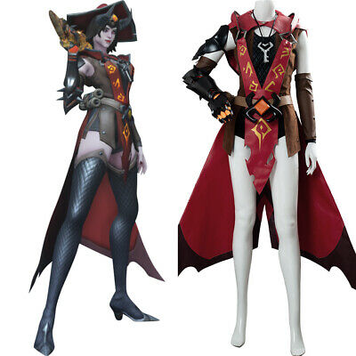AU205 • Buy OW Ashe Cosplay Costume Suit Suit Outfit Uniform Haloween Dress