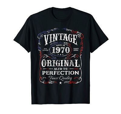 $ CDN23.73 • Buy Vintage Made In 1970 T-Shirt 48th Birthday Gift Funny Cotton Tee Gift Men