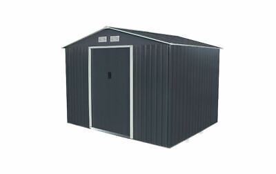 Bentley Navy Grey Apex 9ft X 6ft Metal Garden Shed - Failed Delivery • 155£