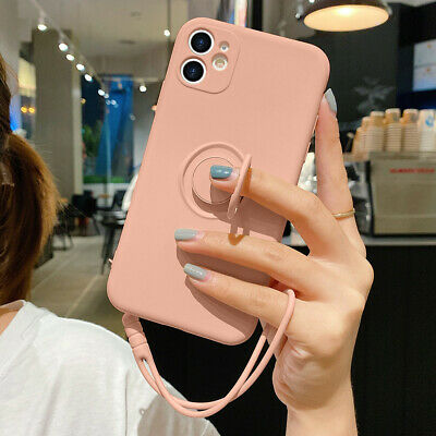 Ring Holder Stand Soft Silicone Liquid Slim Case Cover For IPhone 11 XR SE 8 7 6 • 5.59£
