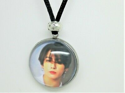 Bts Jungkook (jeon)  Photo   Cabochon Pendant  Necklace Surfer Style Cord  • 3.99£