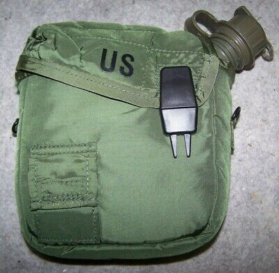 $ CDN11.86 • Buy 2 Qt. Canteen And Cover, Od Green Nylon, U.s. Issue *nice*