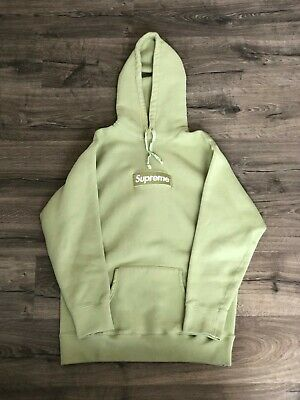 $ CDN268.10 • Buy Supreme FW16 Sage Box Logo Hoodie - Size Extra Large - Used-Good Condition!
