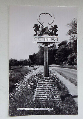 Village Sign, Snettisham, Norfolk, Postcard • 0.99£