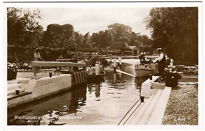 Early Real Photo Postcard . Whitchurch Lock . Pangbourne . Berkshire • 1.50£
