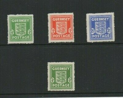 GUERNSEY GERMAN OCCUPATION STAMPS SET + EXTRA 1/2d OLIVE-GREEN. ALL MTD MINT • 2.95£
