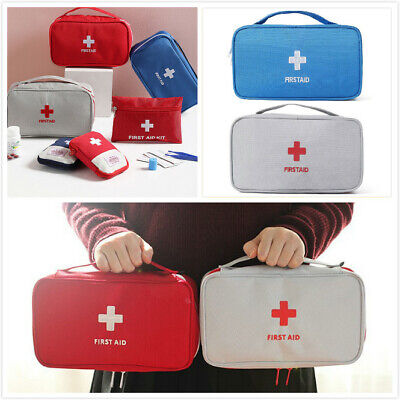 £4.49 • Buy Multi-Layer Medicine Bag First Aid Kit Pouch Rescue Storage Travel Pill Box