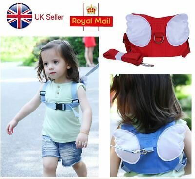 Baby Safety Walking Harness Child Toddler Kids Wing Strap Belt Keeper Reins Aid • 6.68£