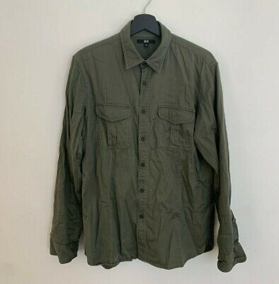 AU10 • Buy Uniqlo Green Long Sleeve Button Up Shirt Good Condition