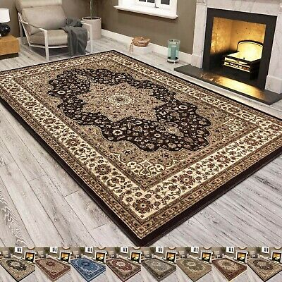 Traditional Area Rug Carpet Modern Turkish Large Living Room Floor Rugs Bedroom • 26.99£
