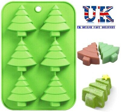 Silicone Christmas Tree Chocolate Cake Soap Jelly Ice Tray Wax Mold Baking Mould • 4.99£