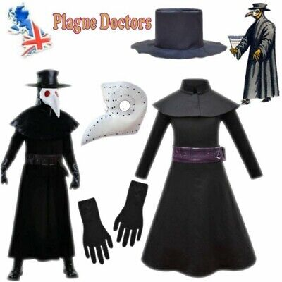 Halloween Costume Props Plague Doctor Bird Long Nose Beak Cosplay Steampunk Suit • 8.49£