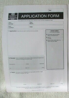 HMP Ranby Obsolete Triplicate Application Forms X2 Unused • 3.25£