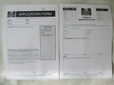 HMP Ranby HMP Lincoln Obsolete Triplicate Application Forms 1 Of Each Unused • 2.99£
