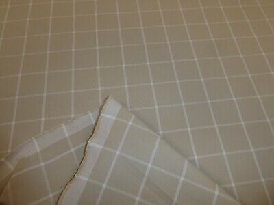 £8.50 • Buy BEIGE - 100% Cotton Checked Fabric - RYE PEBBLE From SANDERSON