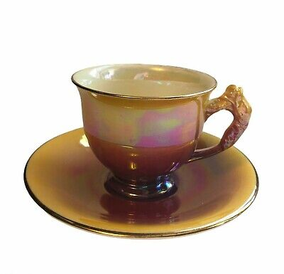 $ CDN24.04 • Buy Royal Winton Grimwades Demitasse Coffee Cup Saucer Purple / Gold Lustreware