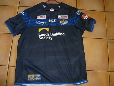 Leeds Rhinos   Rugby League Club Shirt (ryan Hall Testimonial) 2007 To 2017 • 6.50£