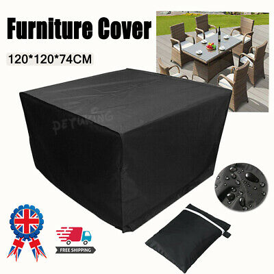Heavy Duty Garden Patio Furniture Table Cover For Rattan Table Cube Outdoor Set • 0.99£