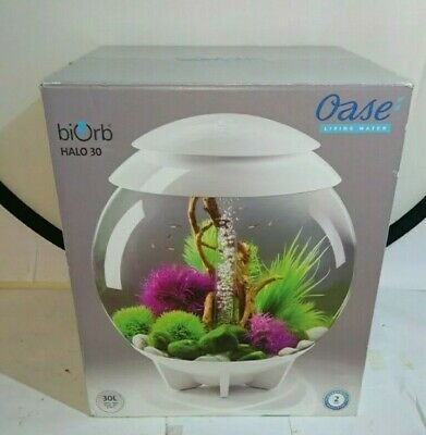BiOrb HALO LED Aquarium 30 Litre White Fish Tank Aquarium - Oase Living Water • 119.99£