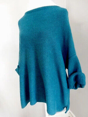 Ochre Designer Jumper Heavy Cotton Chunky Knit Slouchy Top £159 One Size 56  • 22.99£