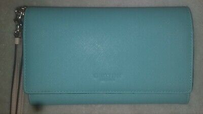 AU40 • Buy Oroton Wallet Wristlet Torqouise With Red Inner Pouch Vgc