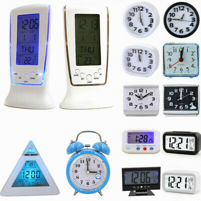AU14.39 • Buy Digital Electronic Desk Alarm Clock LED Backlight Light Battery Operated Decors